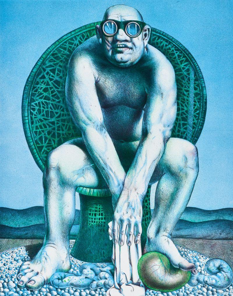 Vogue (grün), 2020, Lothar Wildhirth
